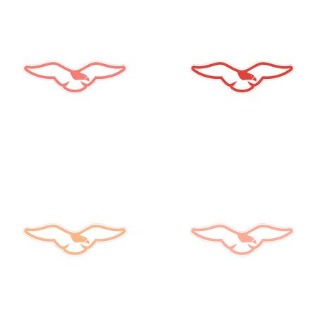 asamblea: montaje pegatina �guila silueta