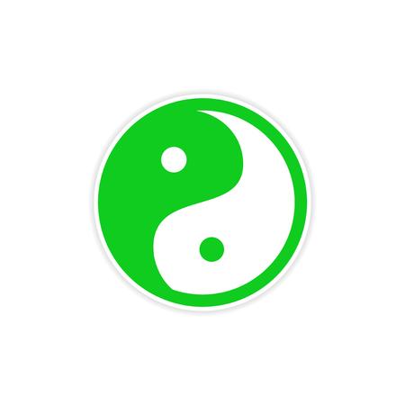 karma concept: Sticker yin yang