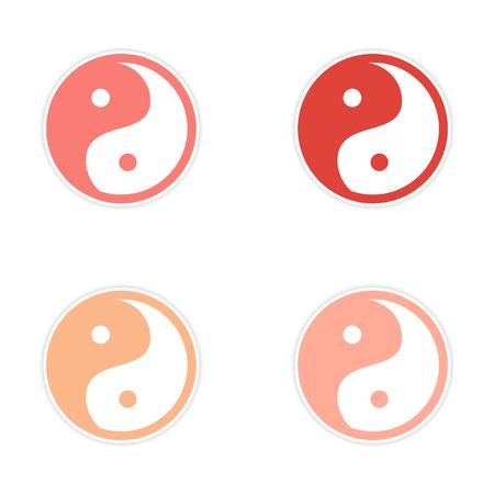 yinyang: assembly Sticker Yin Yang