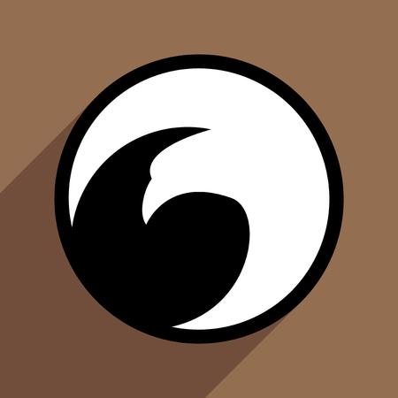 eagle flying: logo flying eagle realistic icon on brown  backgrounds Illustration