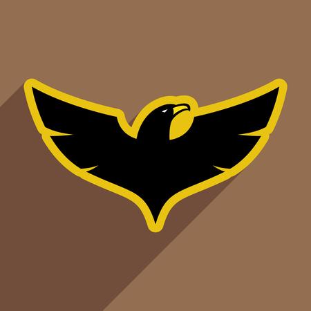 phoenix: estilo de Eagle icono realista sobre fondos de color marrón Vectores