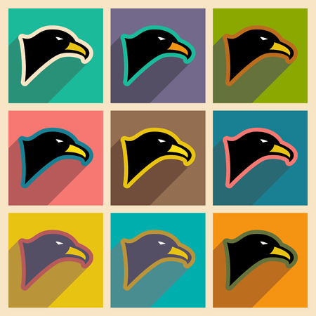 brown backgrounds: stylish  assembly eagle realistic icon on brown  backgrounds