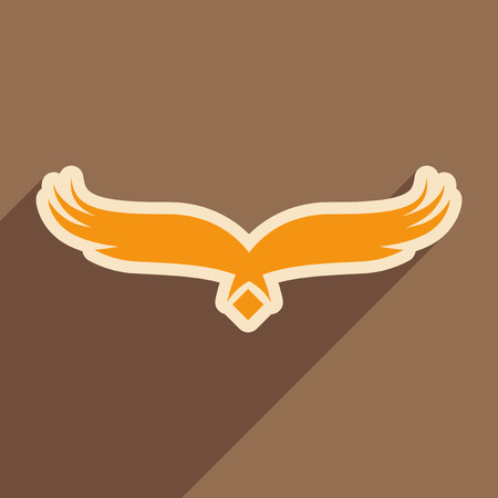 brown backgrounds: stylish silhouette eagle logo realistic icon on brown  backgrounds