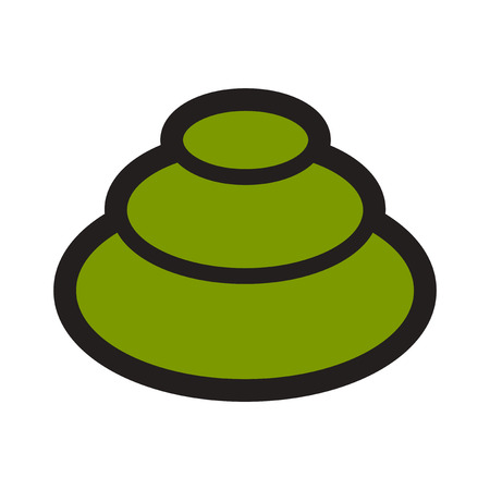 wasabi: Flat with shadow icon wasabi on stylish background