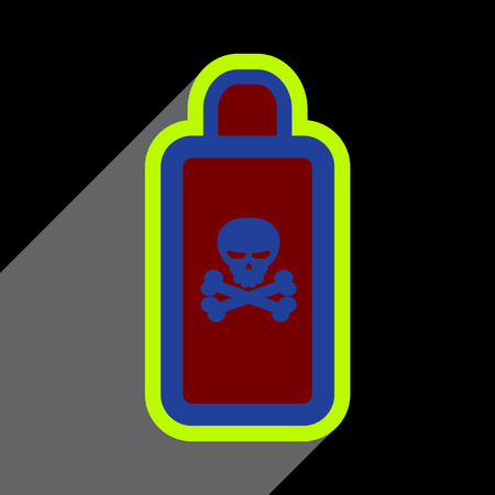 unpleasant: Flat with shadow Icon of poison on a colored background Illustration