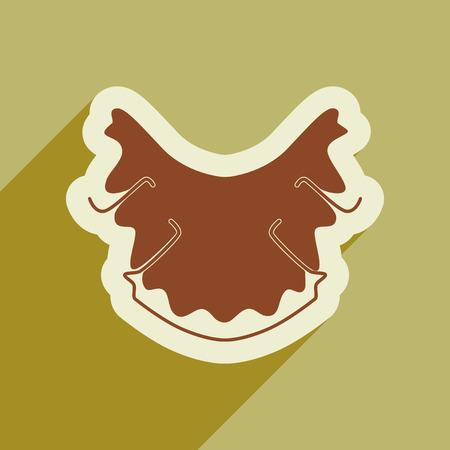 caries dental: Icono de la caries dental en estilo plana Vectores