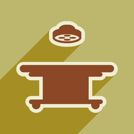 operating table: Icon of operating table in flat style