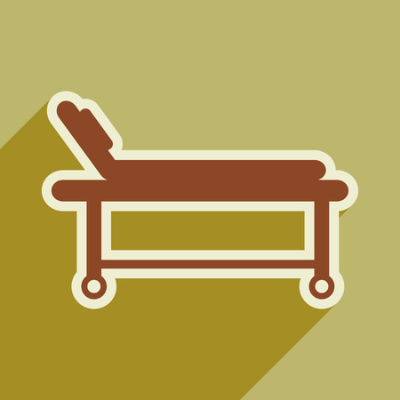 surgery stretcher: Icon of medical stretcher in flat style