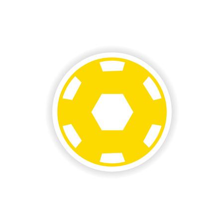 paper ball: icon sticker realistic design on paper ball Illustration