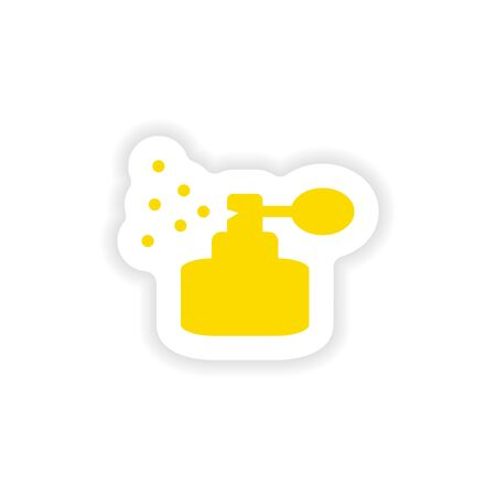 perfum: icon sticker realistic design on paper perfume Illustration