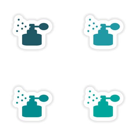 fragrance: assembly realistic sticker design on paper fragrance