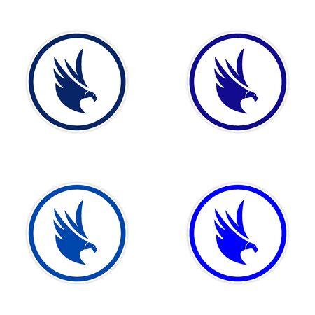 montaje: silueta conjunto de pegatinas Eagles Vectores