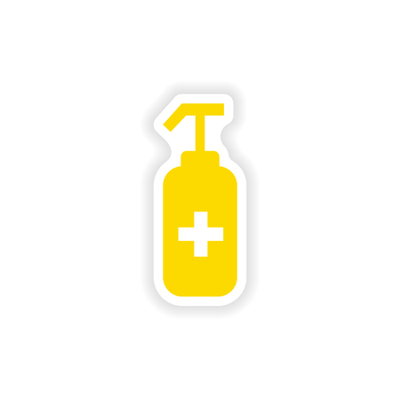 antiseptic: icon sticker realistic design on paper antiseptic Illustration