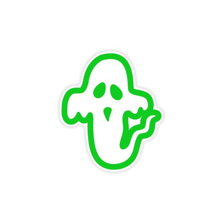 hover: sticker ghost color on a white background Illustration