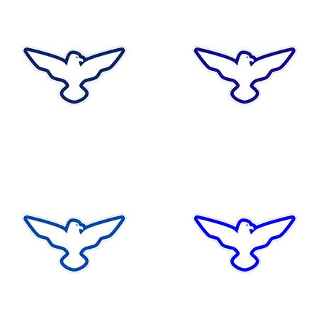 adler silhouette: Montage Aufkleber Eagle-Schattenbild