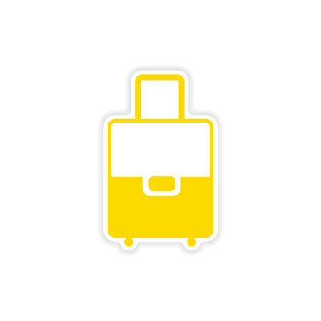 valise: icon sticker realistic design on paper valise