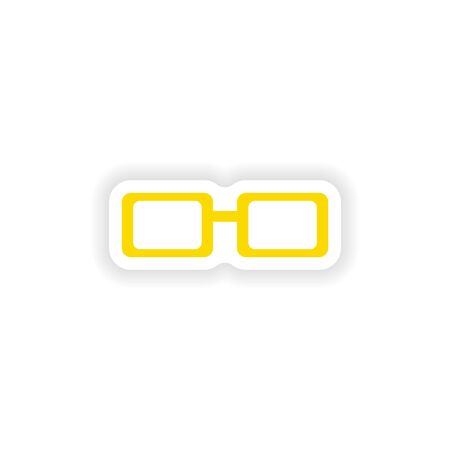 spectacles: icon sticker realistic design on paper spectacles Illustration