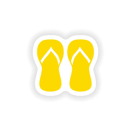 thongs: icon sticker realistic design on paper thongs