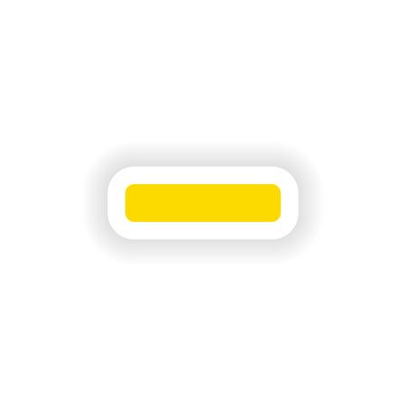minus: icon sticker realistic design on paper minus Illustration