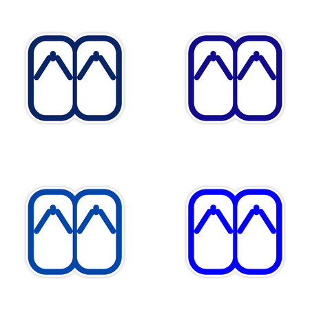 informal clothes: assembly Sticker Japanese slippers