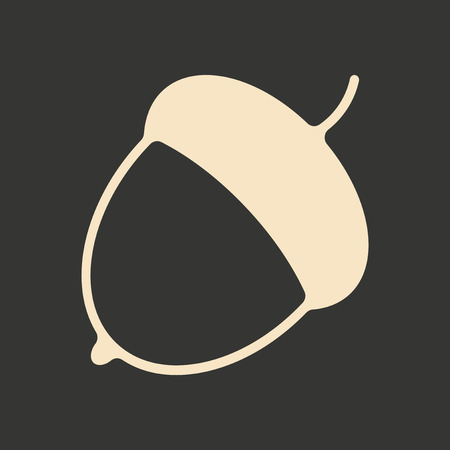 superacion personal: Flat in black and white mobile application acorn Vectores