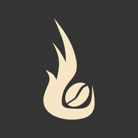 roasting: Flat in black and white mobile application coffee roasting