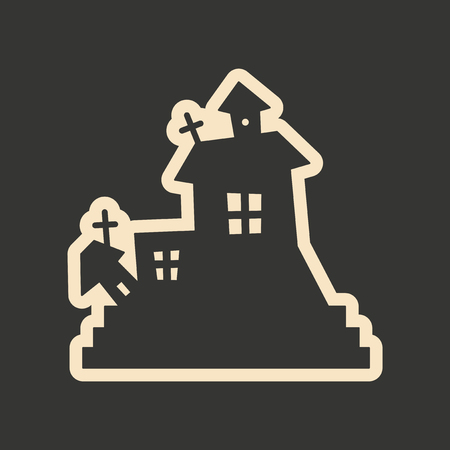 ghost house: Flat in black and white mobile application ghost house