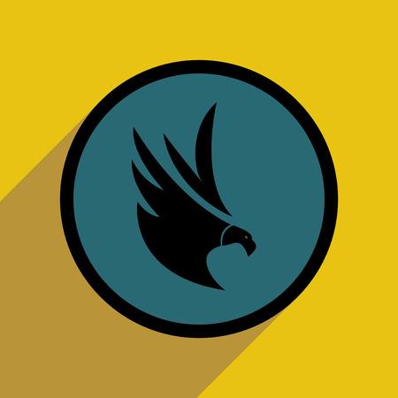logo: stylish silhouette eagle logo