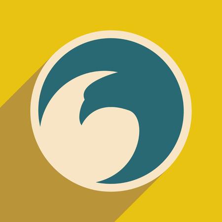 eagle flying: logo flying eagle realistic icon on yellow backgrounds