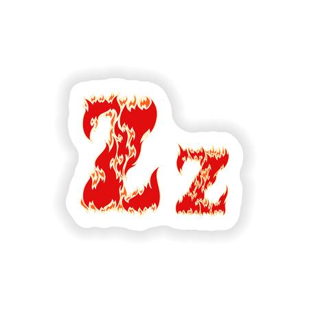 fiery: sticker fiery font red letter Z on white background