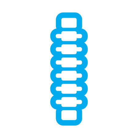 backache: flat icon on white background human spine Illustration