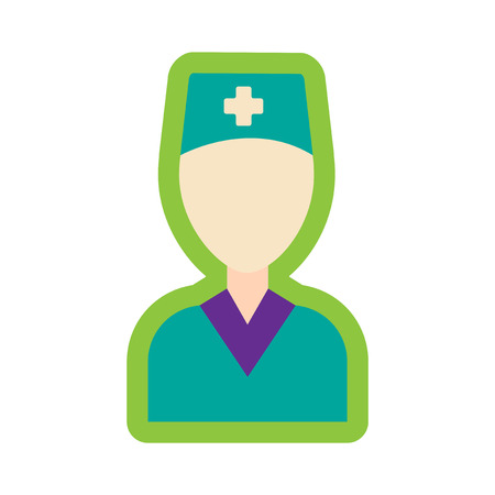 medicate: flat icon with long shadow obstetrician doctor