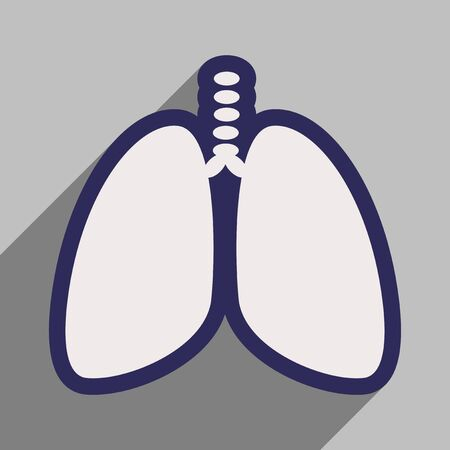respire: Icon of human lungs in flat style