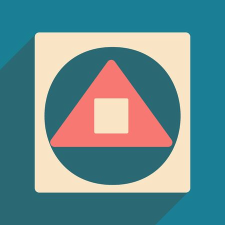 alquimia: Flat with shadow icon and mobile applacation alchemy symbols Vectores