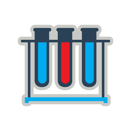 a solution tube: Icon of flasks for analysis in flat style