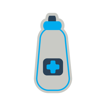 overdose: Icon of bottle of medicine in flat style
