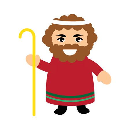 bible shepherd: flat icon with long shadow Father of Jesus Christ