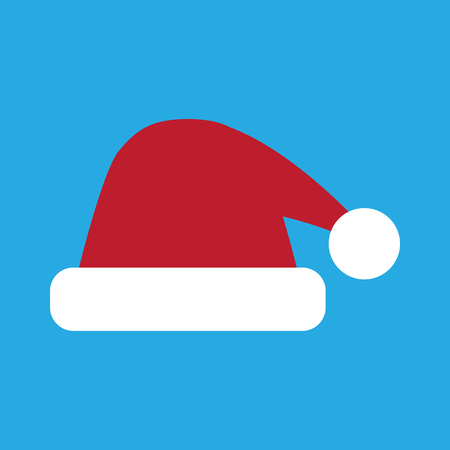 flat icon on stylish background Santa hats