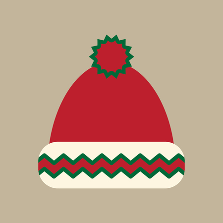 flat icon on stylish background winter hat