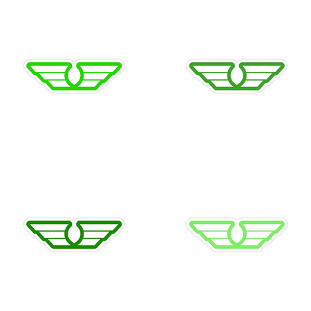 assembly: assembly stickers wings eagle