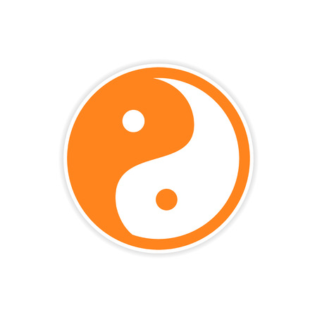 symbol icon: Sticker yin yang