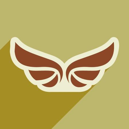 ave fenix: alas elegantes de un águila Vectores