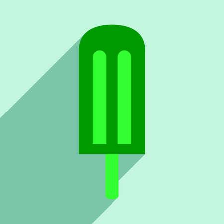 ice lolly: Flat with shadow icon and mobile application ice lolly