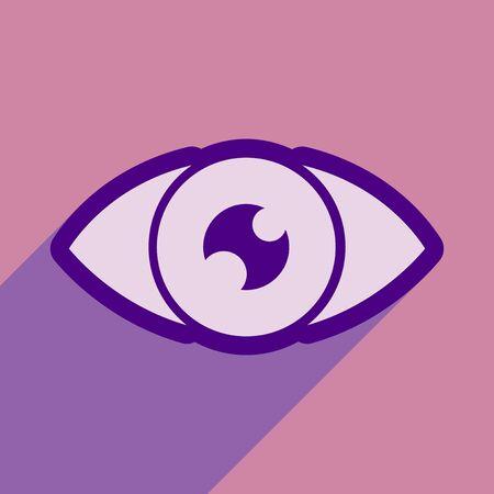 human eye: Icon of human eye in flat style