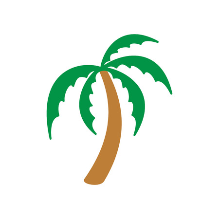 tagged: Modern flat icon with long shadow, Indian palm