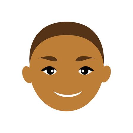indian boy: Modern flat icon with long shadow, Indian boy