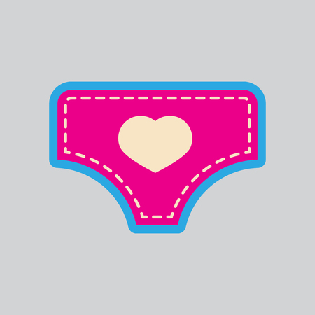 underpants: Modern flat icon with stylish background, childs underpants