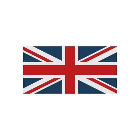 british culture: flat icon on white background, British flag
