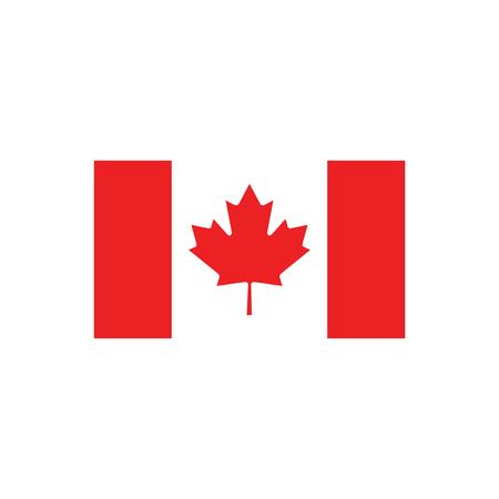 icone plat sur fond blanc, drapeau du Canada
