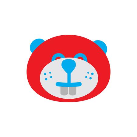 flat icon on white background, Canadian beaver Illustration
